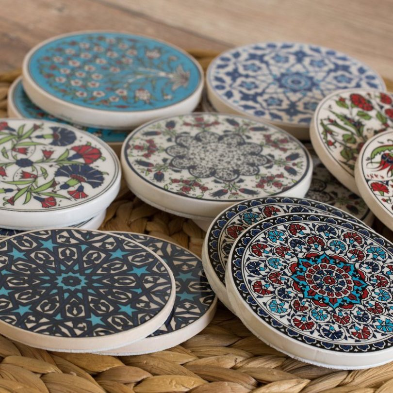 Turkish Handmade Traditional Ceramic Coaster