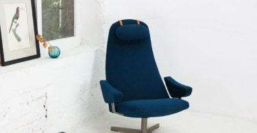 Mid-Century Contourette Roto Lounge Chair by Alf Svensson for Dux