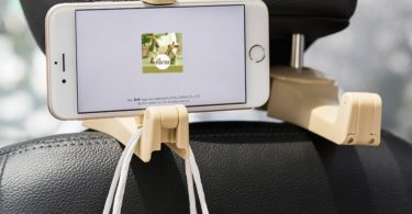 Car Seat Back Hooks with Phone Holder