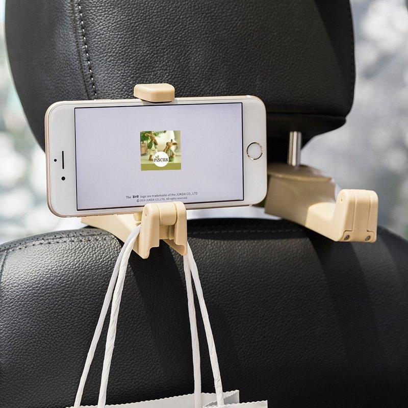 Car Seat Back Hooks with Phone Holder