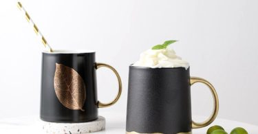 Gold & Matte Black Ceramic Mug