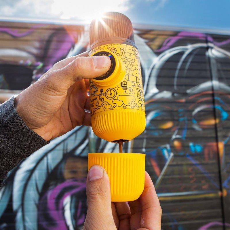Nanopresso Yellow Tattoo Portable Espresso Machine