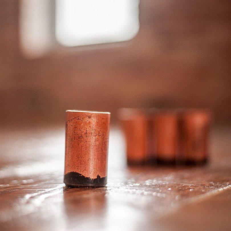 Copper Shots Set of 4