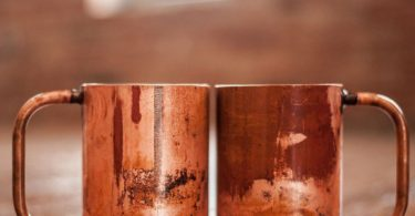 The Rambler Distressed Copper Mug Set