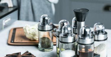 Rotary Glass Seasoning Jar Set