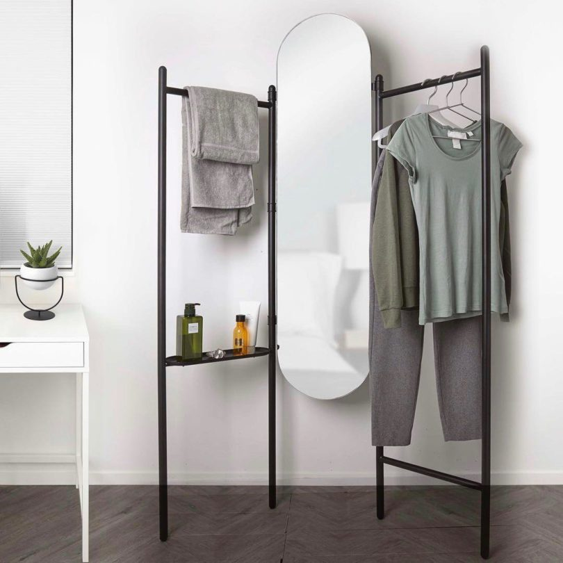 Vala Floor Mirror & Valet