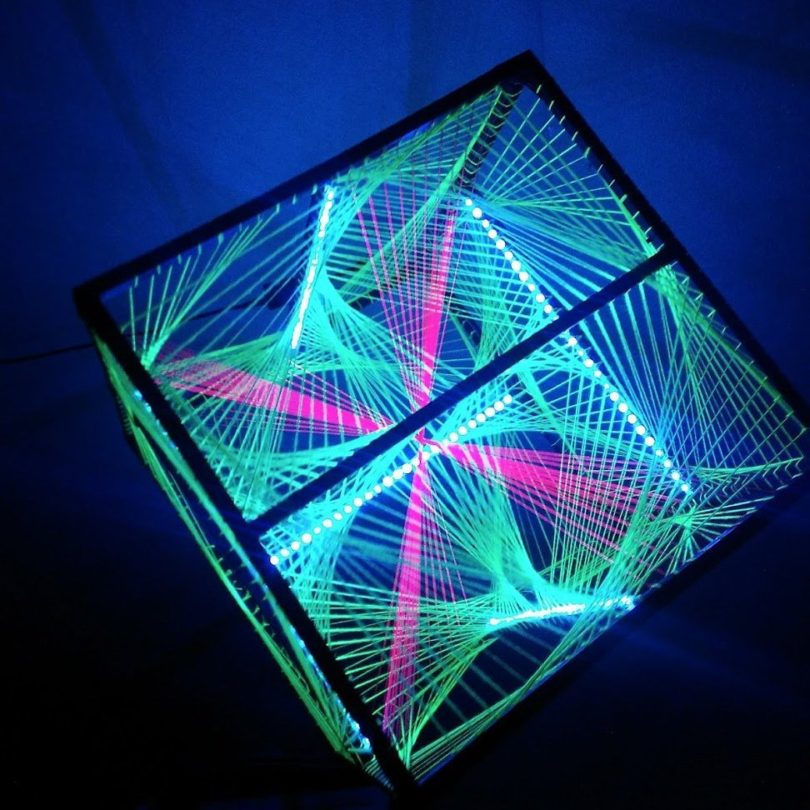 String Art LED Cube