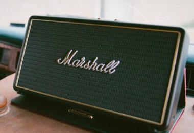 Marshall Stockwell Wireless Speaker with Flip Cover