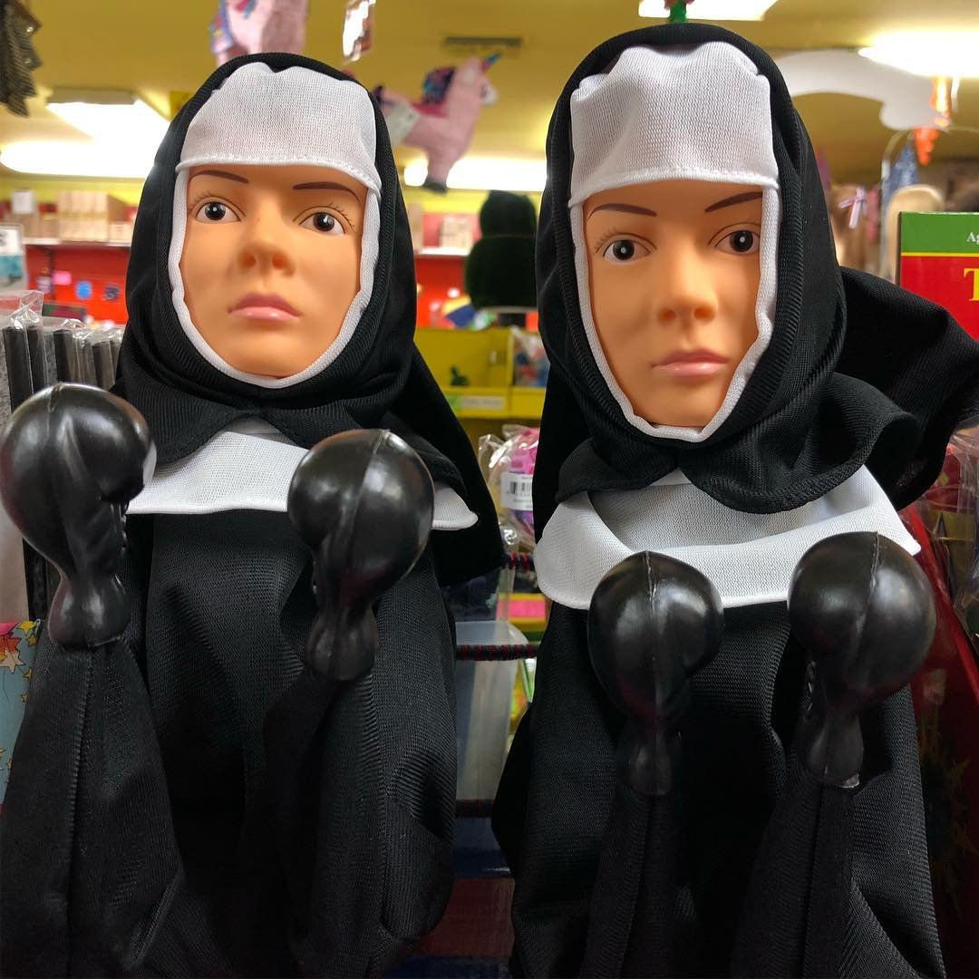 The Punching Nun Fighting Puppet