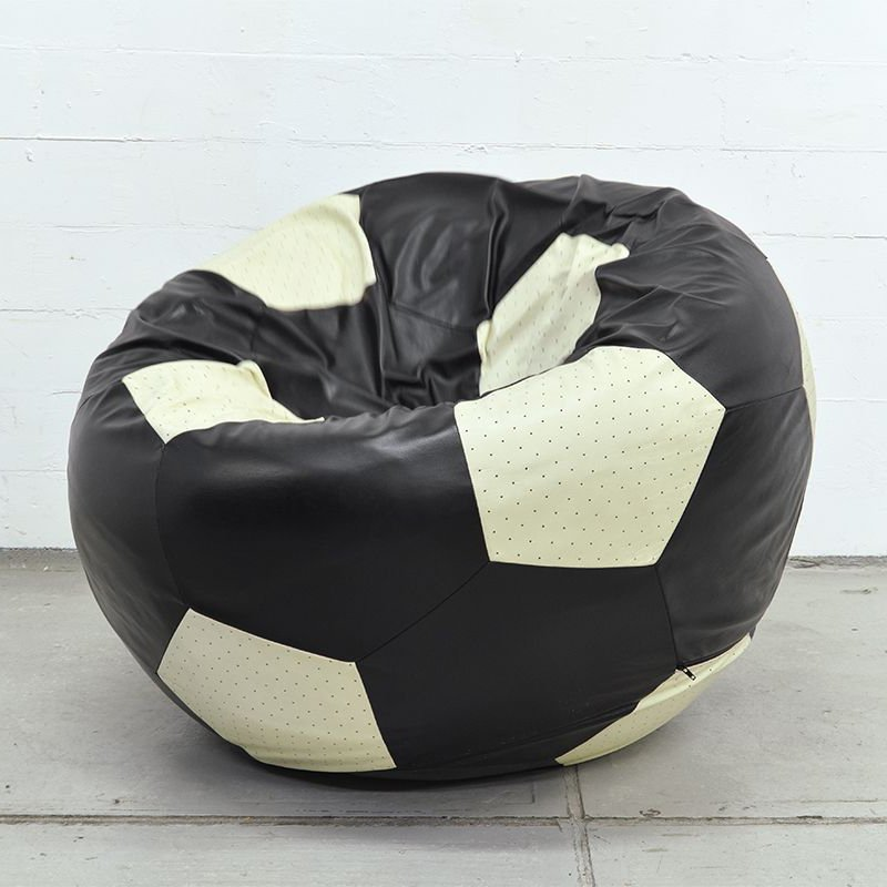 VIP Football Leather Lounge Chair by Edwin Niekel & Taco Regtien
