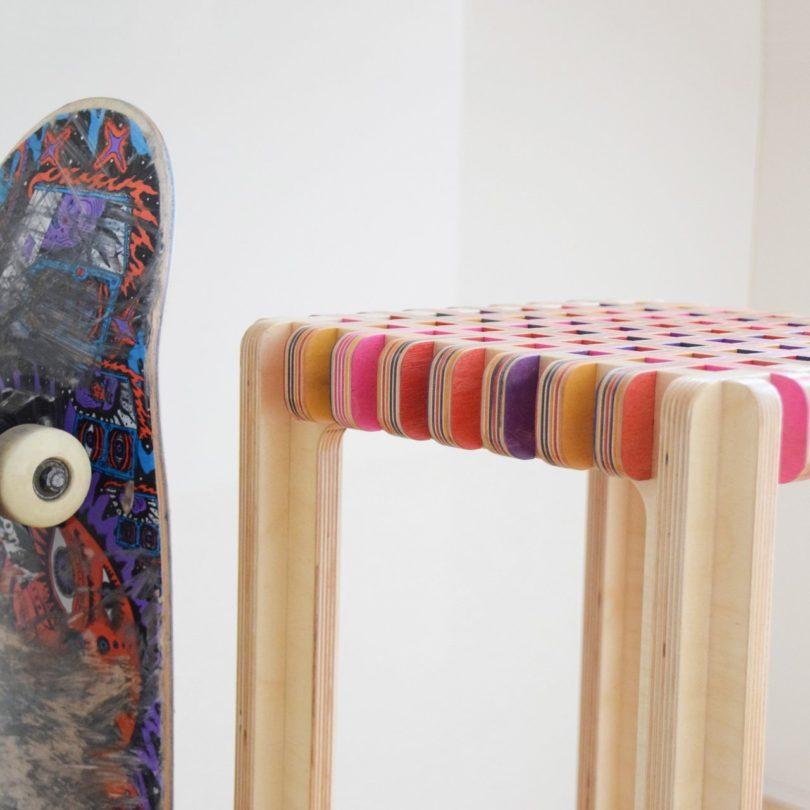 Kruked Skateboard Stool