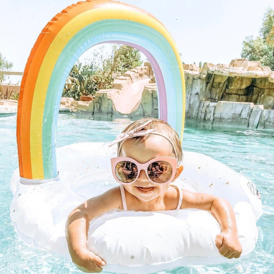 Glitter Rainbow Lil' Pool Float