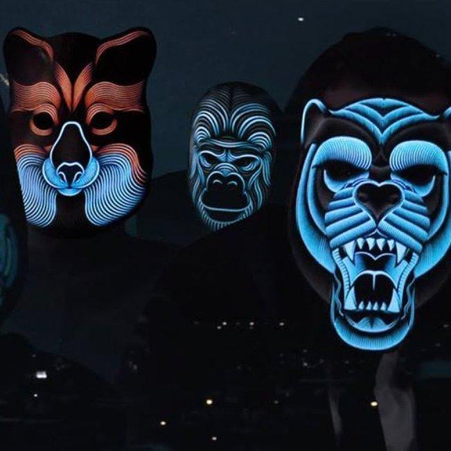 Sound Reactive LED Mask