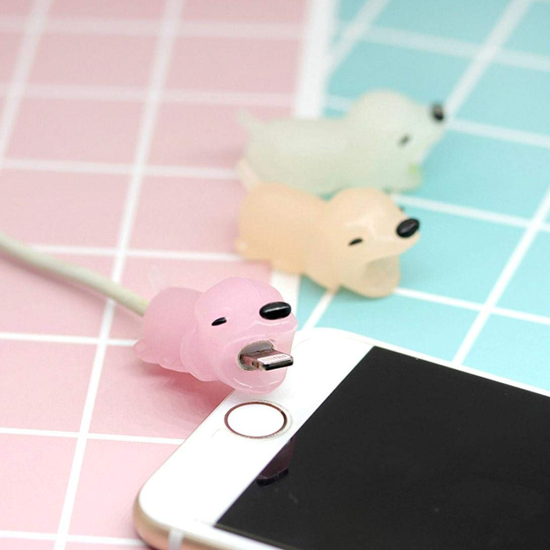 Gbell Cute Luminous Glow in The Dark Animals Cable Accessory