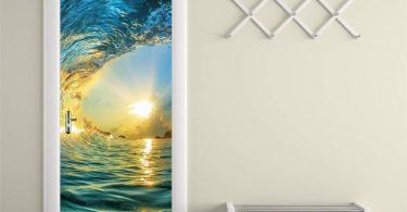 Wave Door Mural Decal