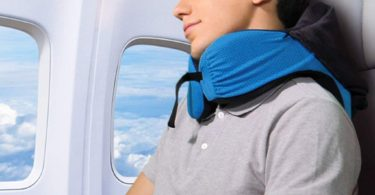 LANGRIA 6-in-1 Memory Foam Neck Support Travel Pillow
