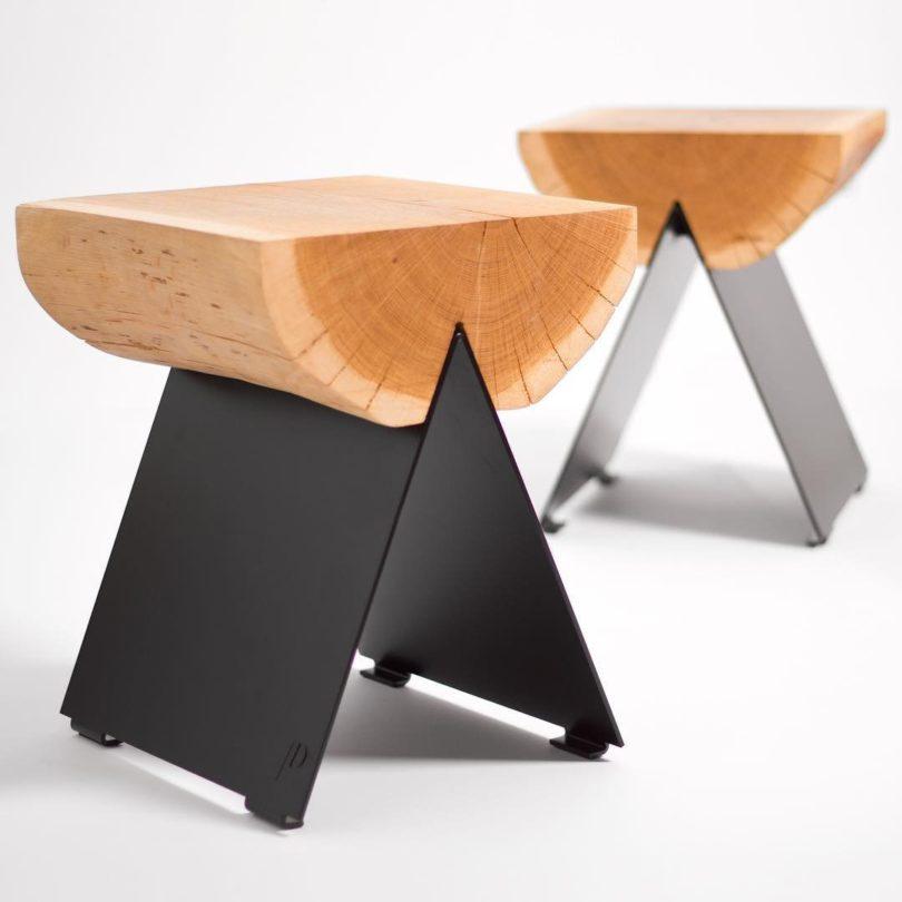 ½ Wooden Stool
