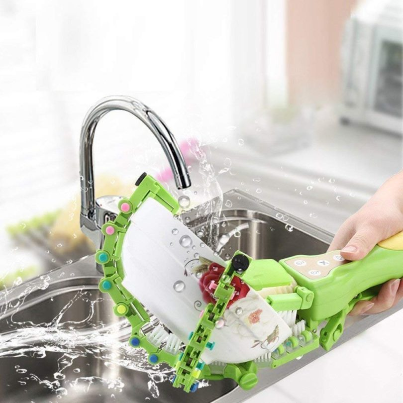 Handheld Automatic Dish Brush Scrubber