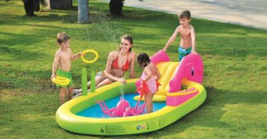 Inflatable Children's Play Pool with Slide