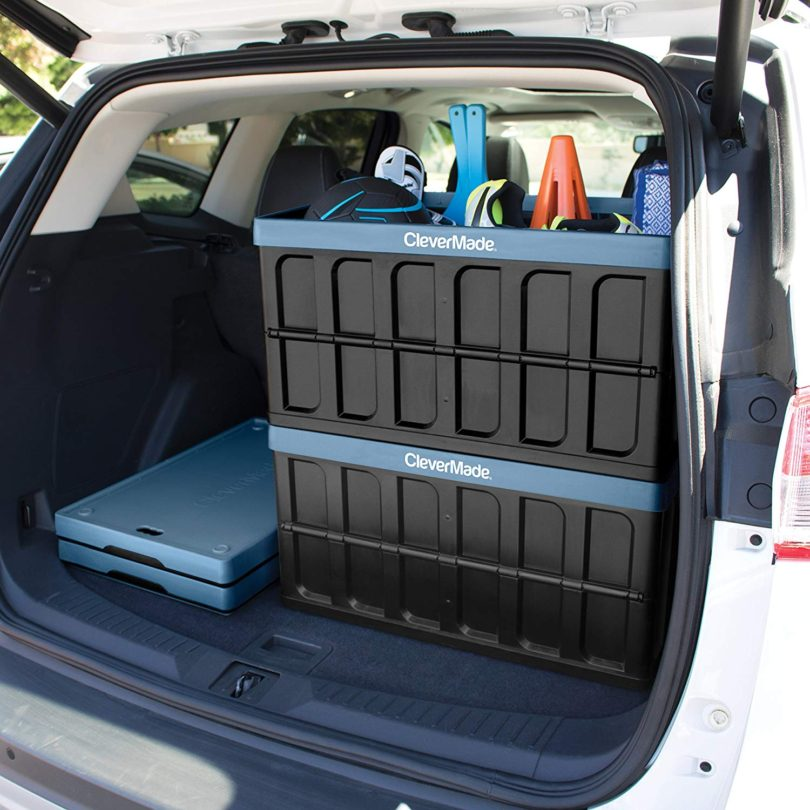 CleverMade CleverCrates 46 Liter Collapsible Storage Bin/Container: Solid Wall Utility Basket