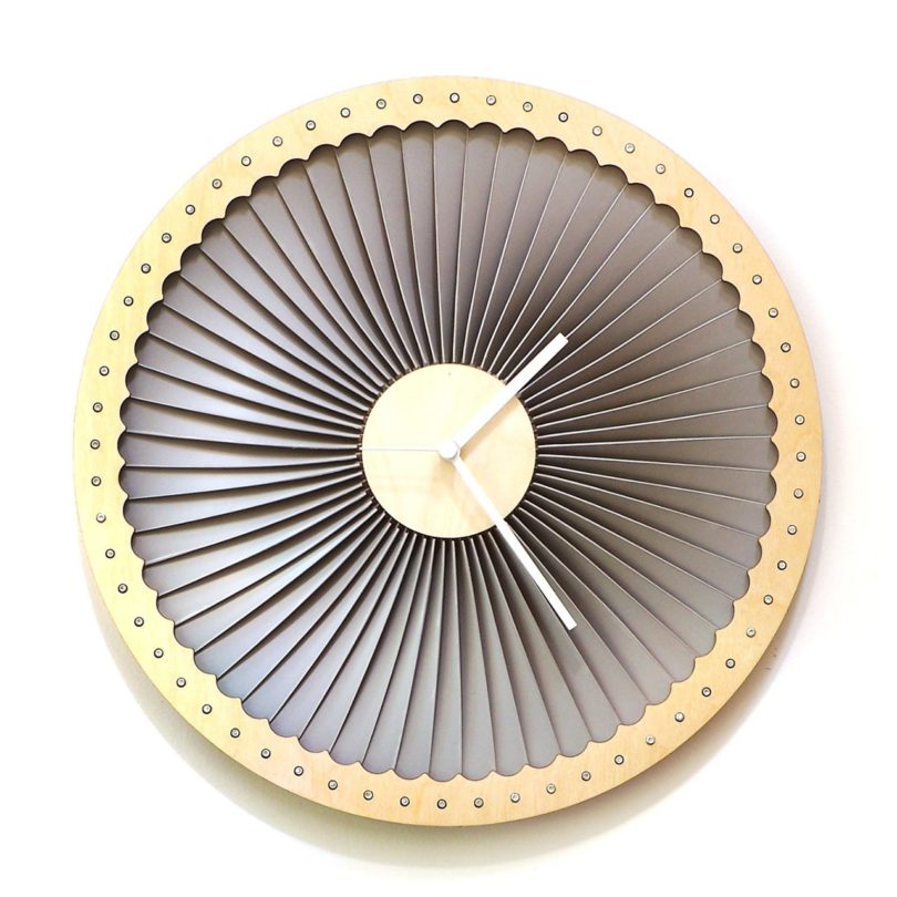 Turbine Wood Wall Clock