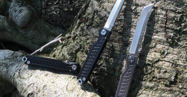 StatGear Pocket Samurai Folding Knife by for EDC – Titanium Handle Edition