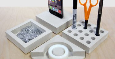 SLABS Concrete Modular Desk Set