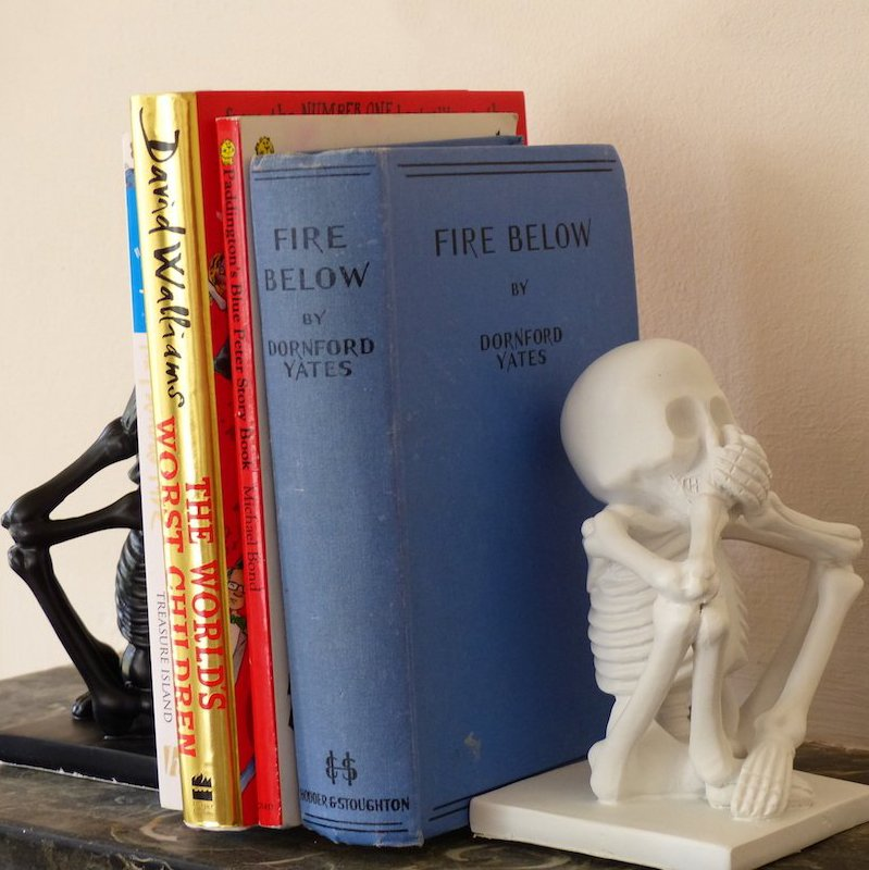 Skeleton Bookends