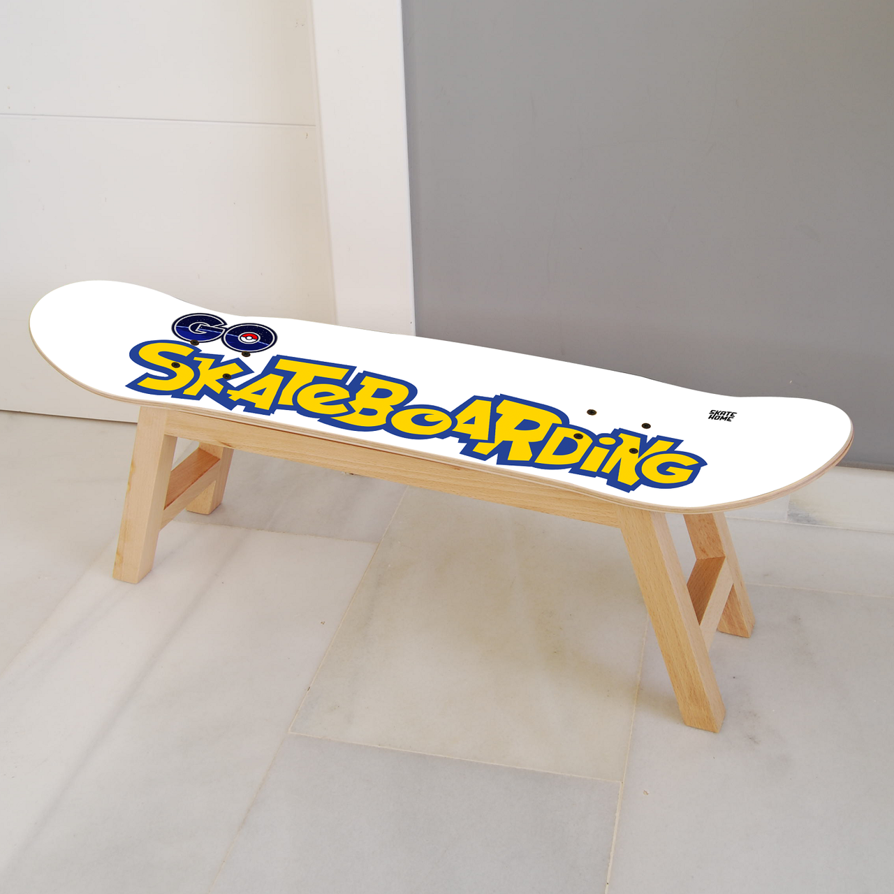 Pokémon Go Skateboarding Nollie Flip Stool