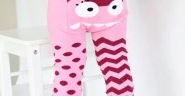 Pink Monster Organic Cotton Leggings