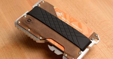 T01 Tactical Wallet in Raw Hide Genuine Leather & Raw Aluminum