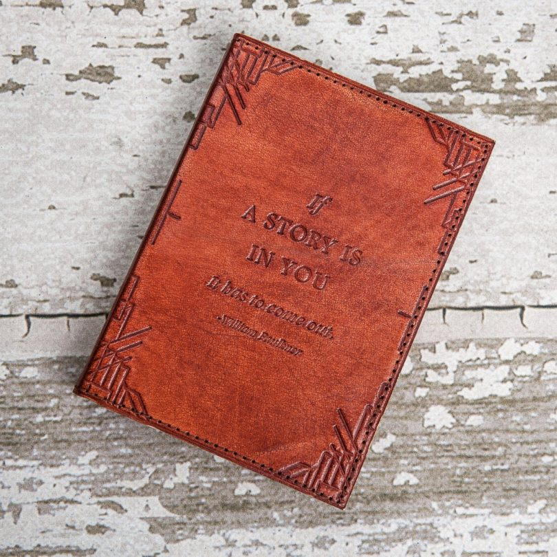 Refillable If A Story Handmade Leather Journal