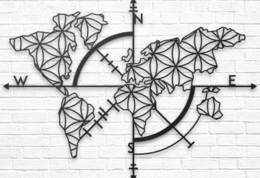 Map of Life Metal Wall Decor