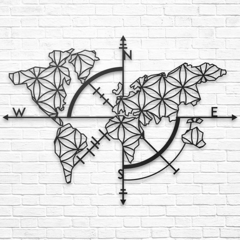 Map of Life Metal Wall Decor