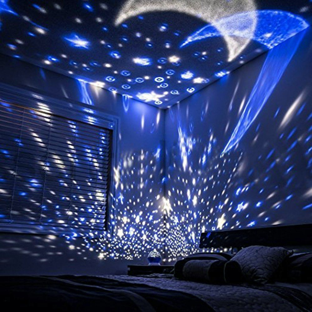Night Light Moon Star Projector Lamp