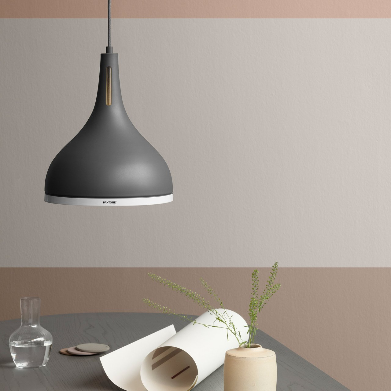 Pantone Pewter Castor 35 Pendant Lamp