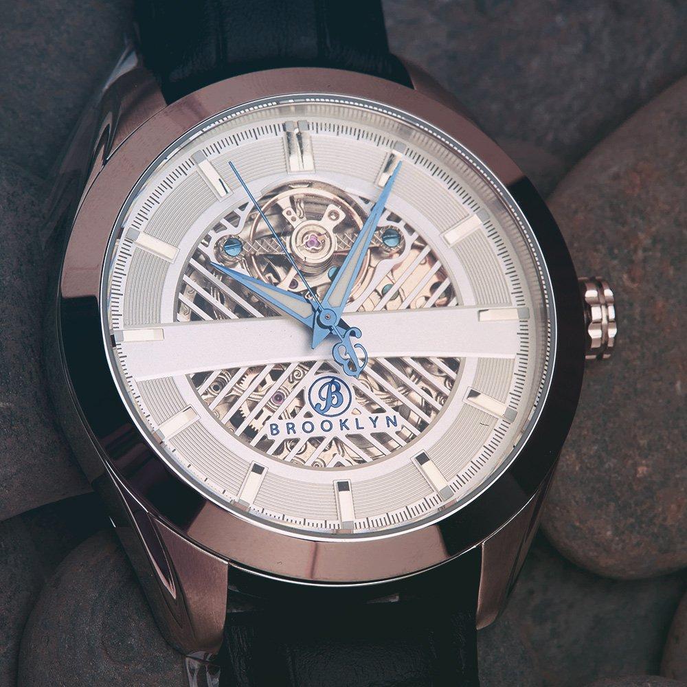 Brooklyn Pierrepont Skeleton Mens Automatic Watch BW-200-M1121