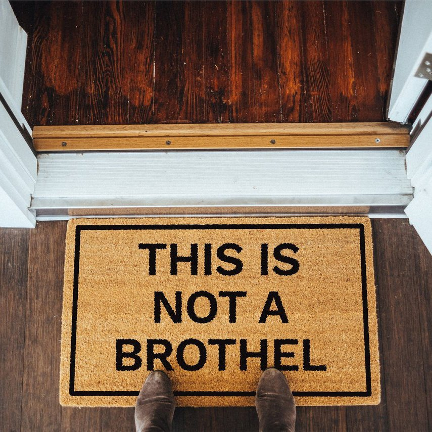 This Is Not A Brothel Doormat