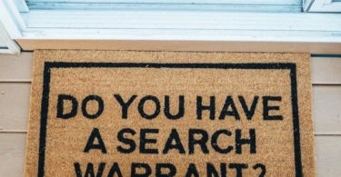 Do You Have A Search Warrant? Doormat