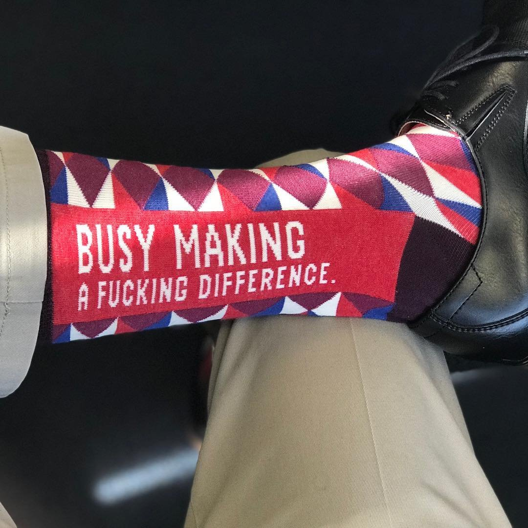Busy Making A F*cking Difference Socks