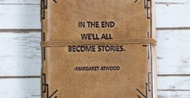 We All Become Stories Blonde Handmade Leather Journal