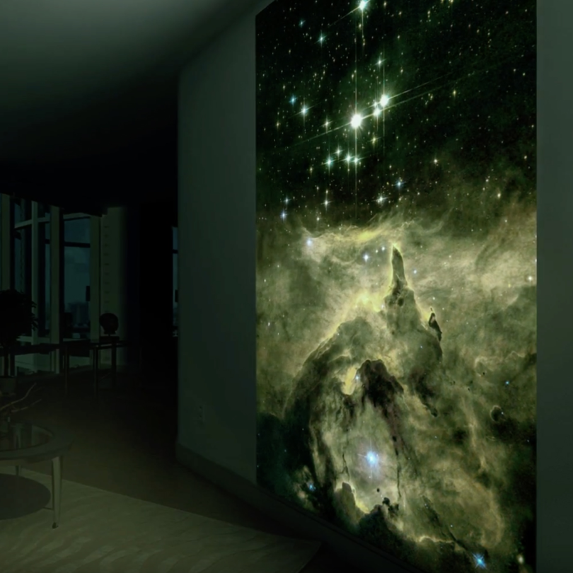 Glowing Hubble Prints by Bogi Fabian