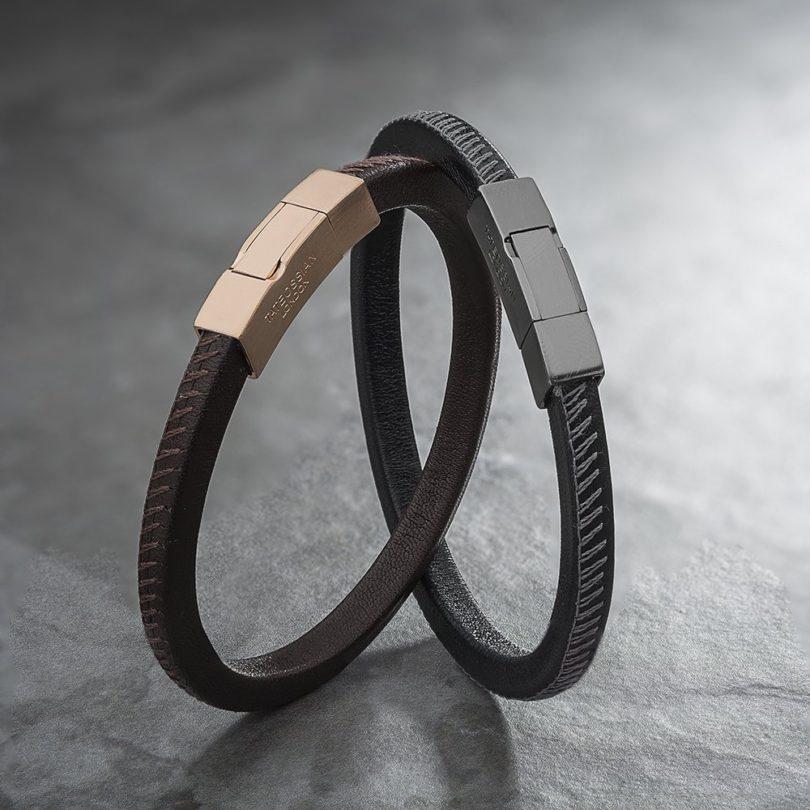 Click Pelle Bracelet