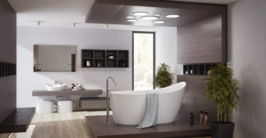 Emmanuelle 2 Freestanding Solid Surface Bathtub