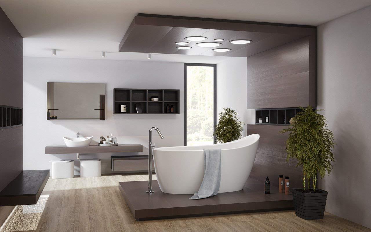 Emmanuelle 2 Freestanding Solid Surface Bathtub