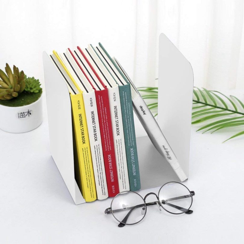 Solid Color Metal Bookends