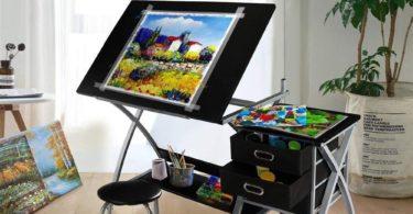 Yaheetech Adjustable Drafting Table Art & Craft Drawing Desk
