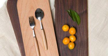 Wood Breadboard Dessert Plate