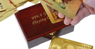 SandiaSummer 24K Gold Foil Playing Cards