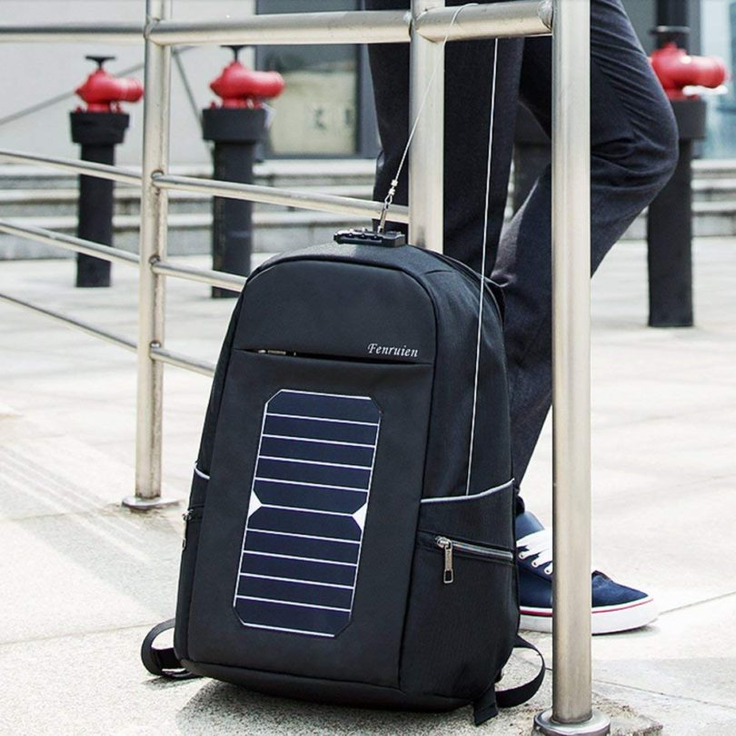 Eshow Laptop Backpack with USB Charging Port Solar Charger